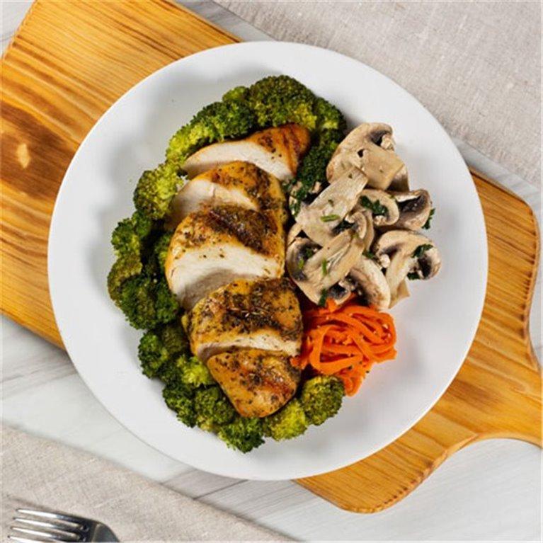 Teppanyaki pollo con verduras