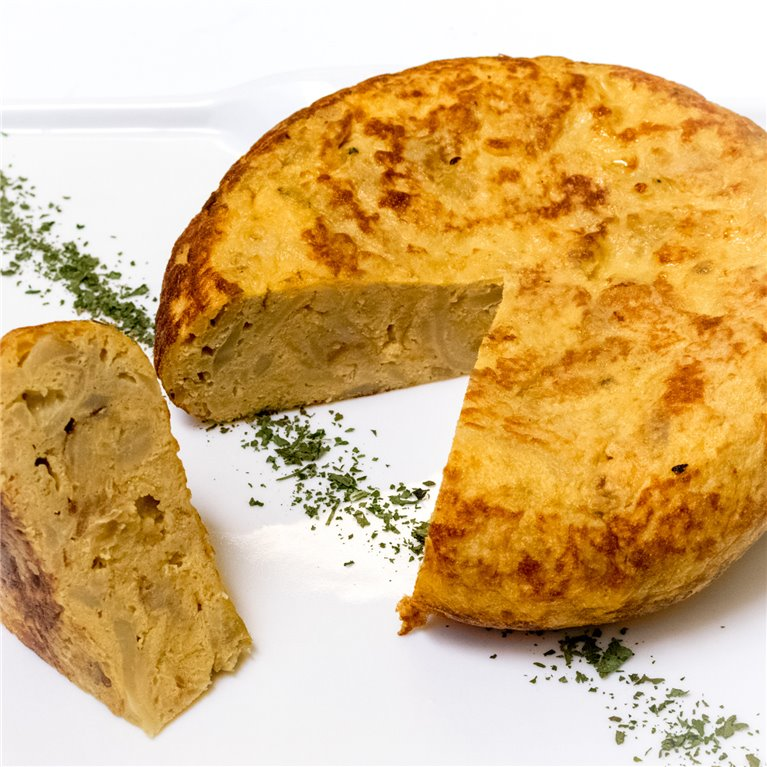 Tortilla de patata y cebolla 1250gr, 1 ud