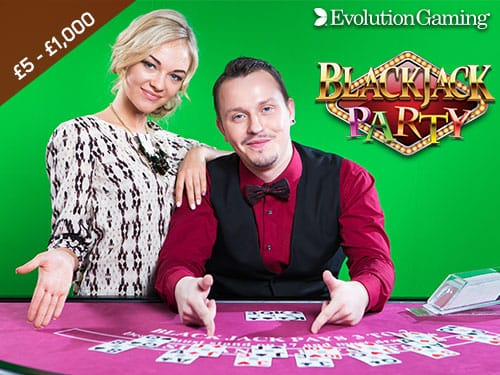 Evolution Live Blackjack Party Aspers Casino Online