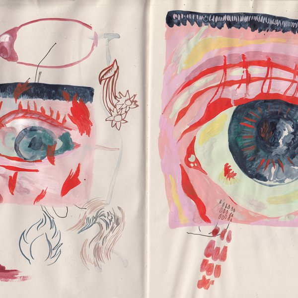 Sketchbook page - eye mural sketch