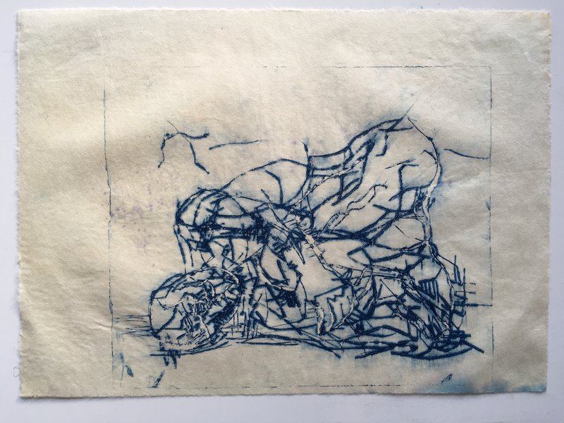 1 Multi-Layered print exercise - Dry point print