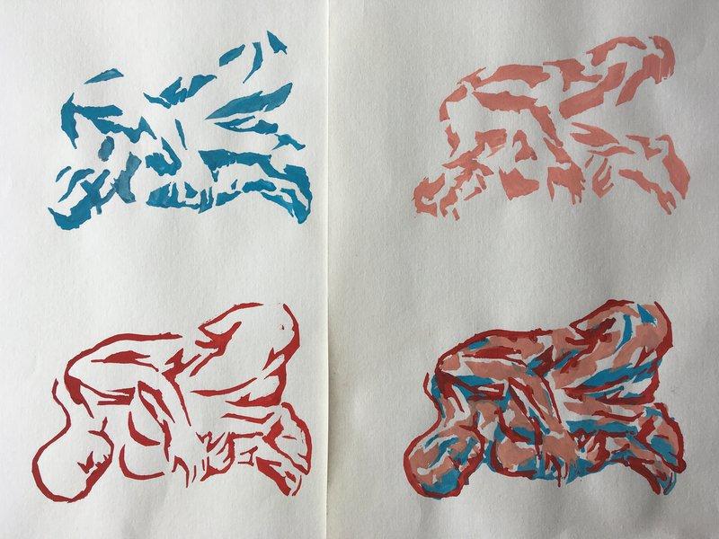 2 Multi-Layered print exercise - Three stencils