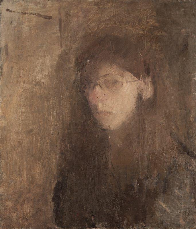 Self-Portrait in Studio<span>Copyright Naomi Grant</span>