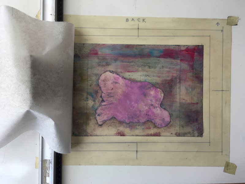 4 Multi-Layered print exercise - Background stencil printed first