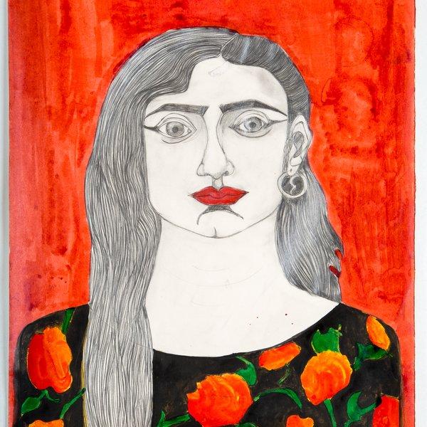 Salma in a Flowered Dress