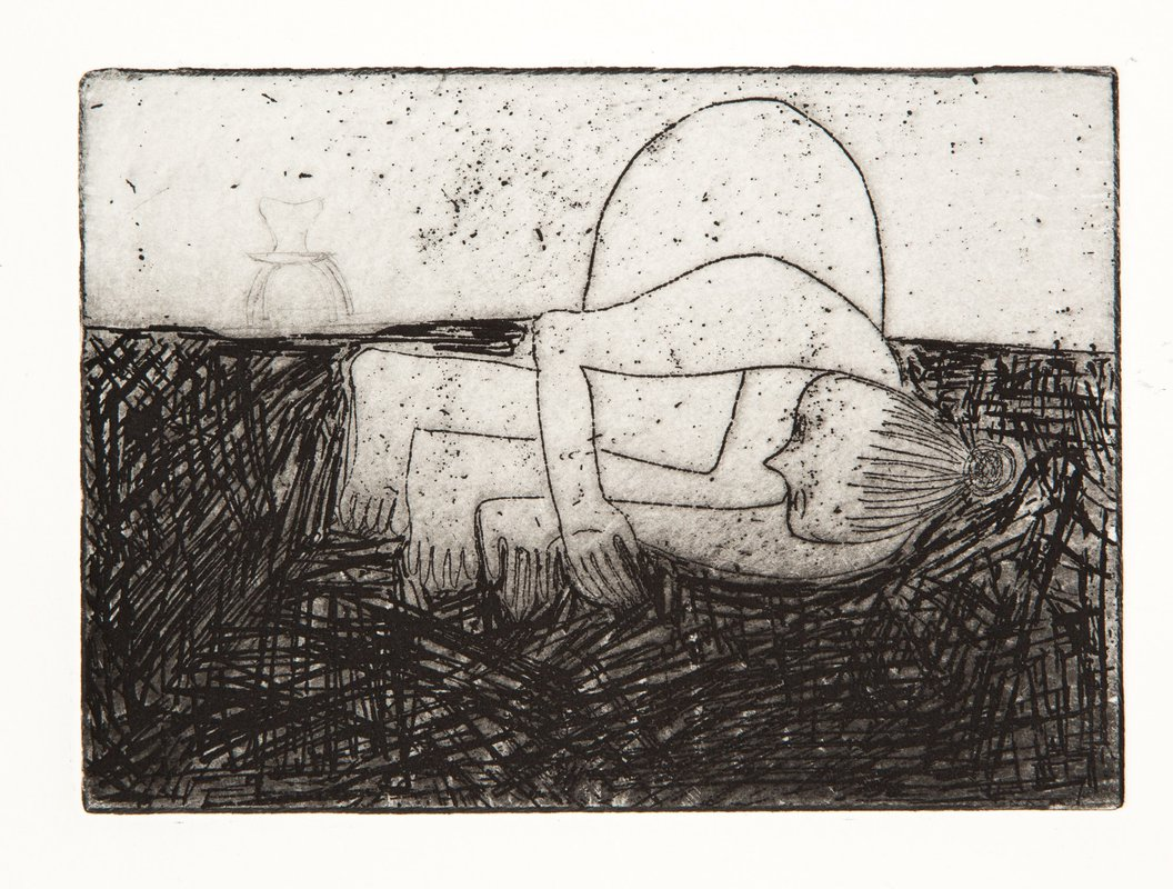 Woman and Chair<span>Copyright Aquatint Etching</span>