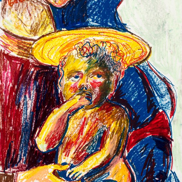 A Baby on His Mother's Knee (After Masaccio)