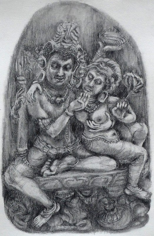 Shiva and Parvatti by Aude Herail Jager<span>Copyright Aude Hérail Jäger</span>