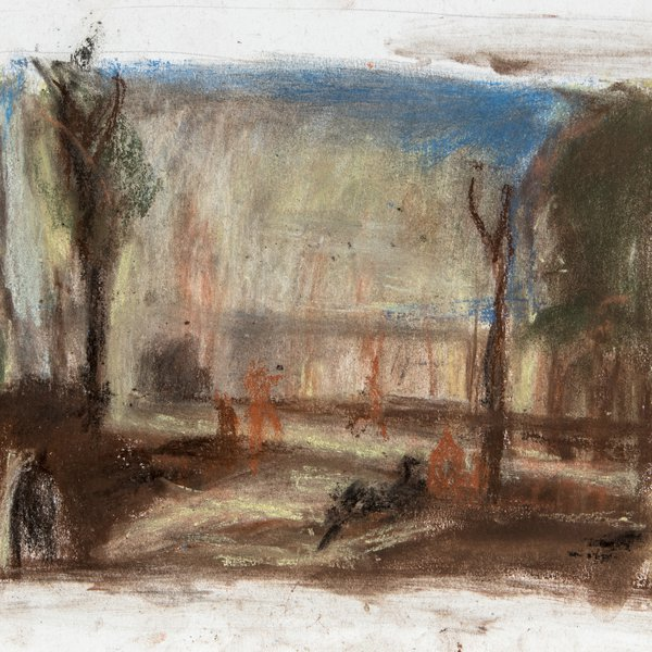 (After Turner) In the park