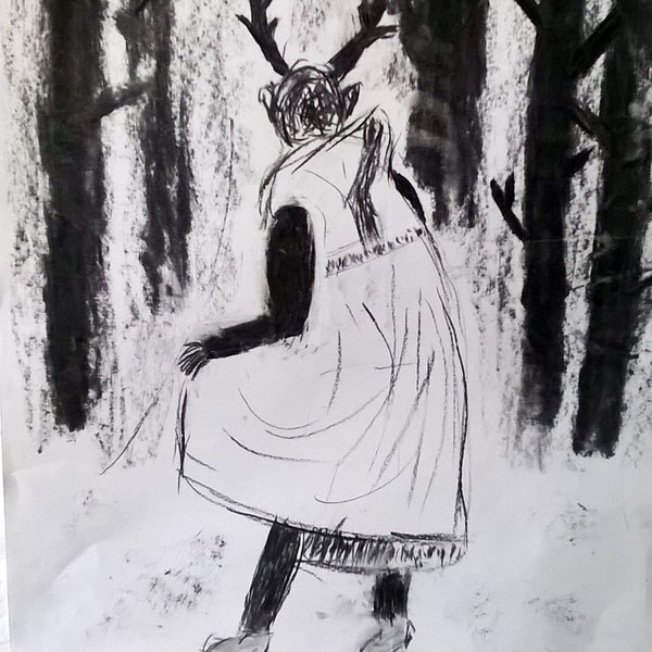 Actaeon Transformed into a Deer by Billy Hall, age 11, Norwich Drawing Club
