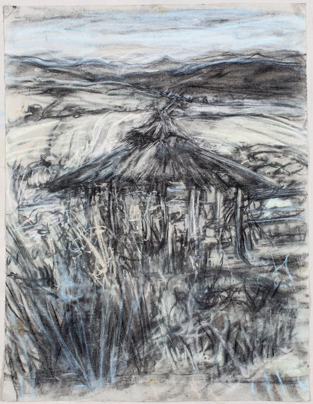 <h3>Grey Palapa</h3><span>2015-16 | Pastel on paper | 63 x 48 cm</span>