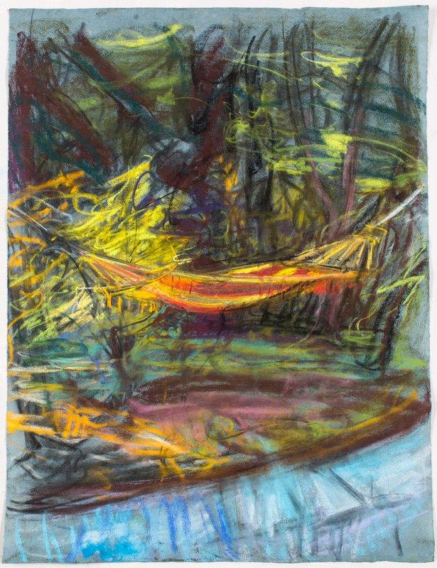 <h3>Hammock I</h3><span>2015-16 | Pastel on paper | 63 x 48 cm</span>