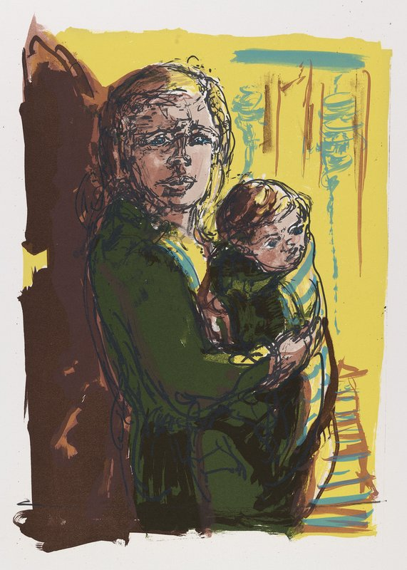 <h3>Refugee Child</h3><span>Lithograph on paper | 2016 | 52 x 38 cm</span>