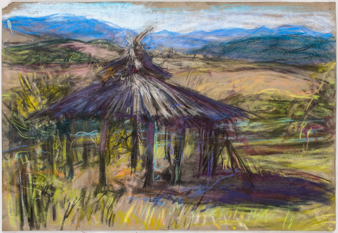 <h3>Morning Palapa II</h3><span>2015-16 | Pastel on paper | 48 x 63 cm</span>