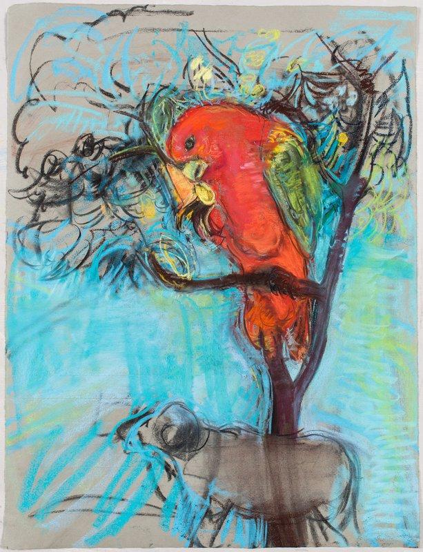 <h3>Parrot</h3><span>2015-16 | Pastel on paper | 63 x 48 cm</span>