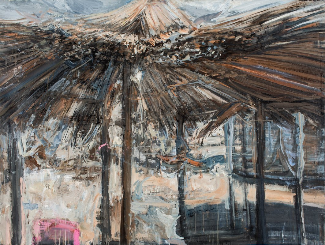<h3>Small Grey Palapa</h3><span>2015-16 | Oil on canvas | 95 x 125 cm</span>