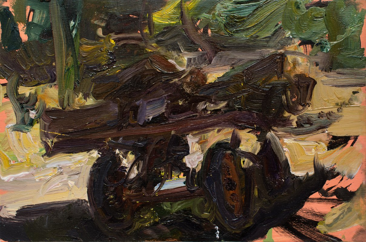 <h3>Trolly</h3><span>2015-16 | Oil on board | 19.7 x 29.8 cm</span>