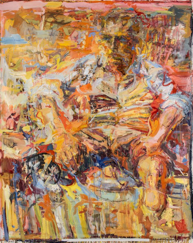 <h3>Wayfarer</h3><span>2015-16 | Oil on canvas | 208 x 169 cm</span>