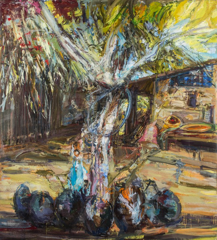 <h3>White Tree</h3><span>2015-16 | Oil on canvas | 178 x 160 cm</span>