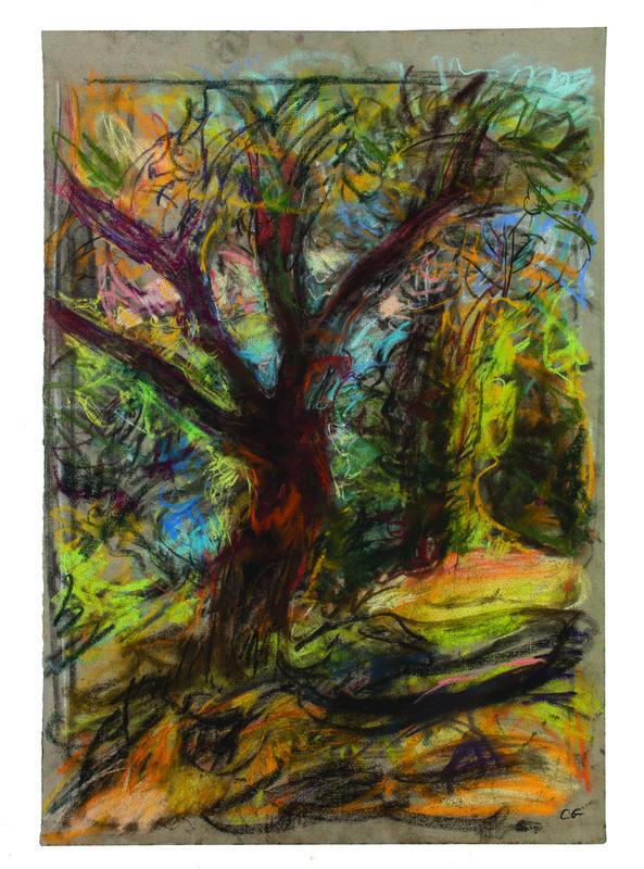 <h3>Corfu Tree I</h3><span>pastel on paper | 2018 | 75x52cm</span>
