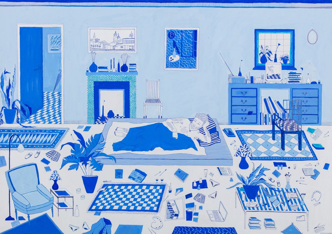 Boy in Blue Bedroom<span>Copyright Beth Rodway</span>