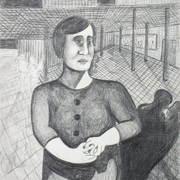 Woman with Fiddling Hands
