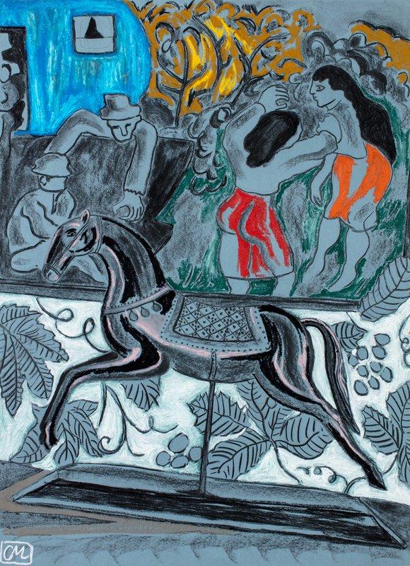 Pink Horse and Blue Caravan<span>Courtesy Christabel MacGreevy</span>