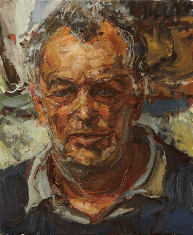 <h3>Stephen Frears, The Film Director</h3><span>2013 | Oil on canvas | 760 x 630 mm</span>