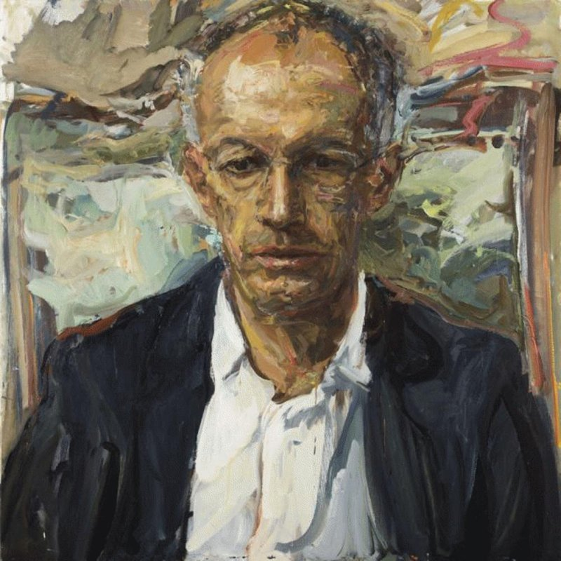 <h3>Sir Michael Moritz, The Immigrant</h3><span>2012-14 | Oil on canvas | 1000 x 1000 mm</span>