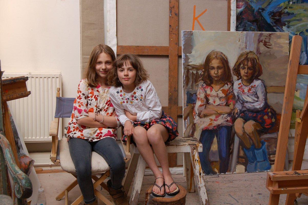 <h3>Painting Matilda and Ella </h3>
