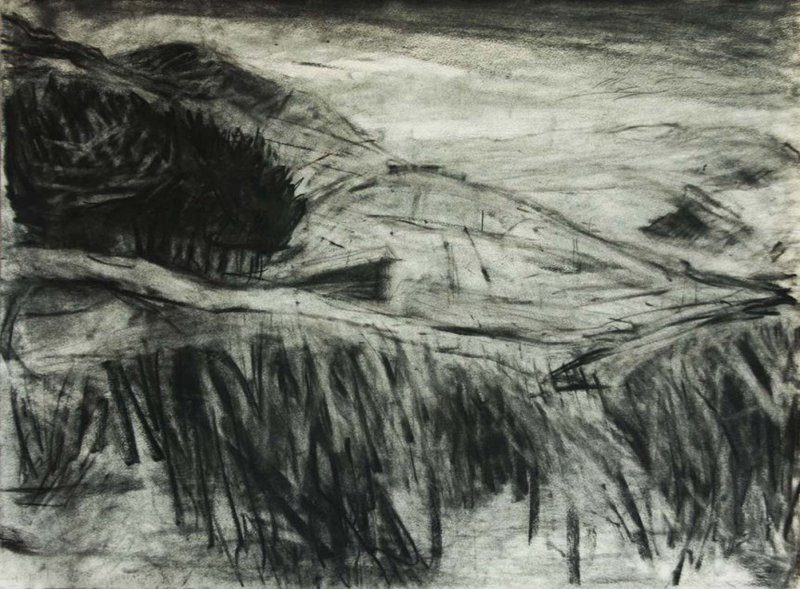 Drawing of Cill Rialaig