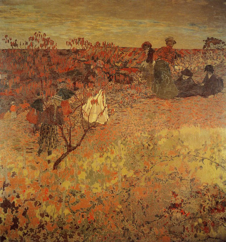 Edouard Vuillard- A walk in the vineyard 1900, oil on canvas 260 x 248cm, Los Angeles County Museum of Art.jpg