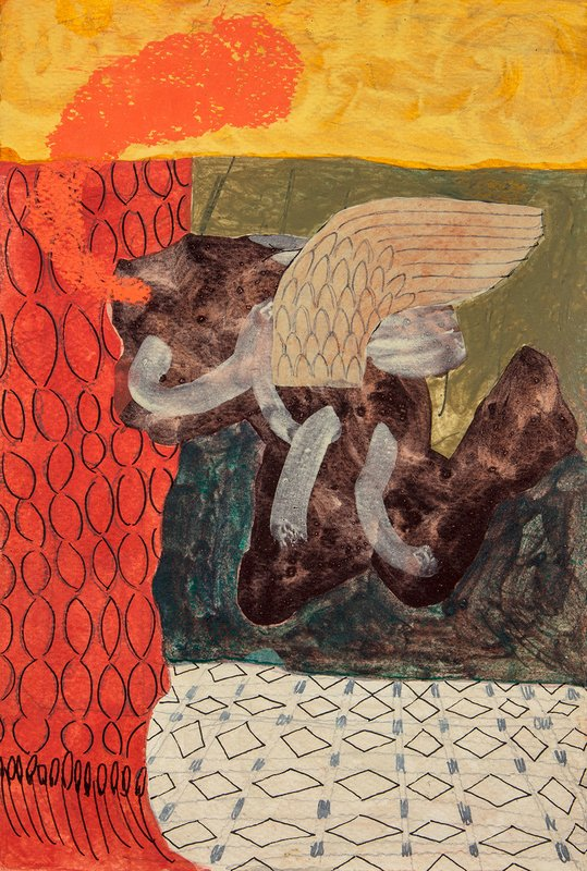 Untitled, flying angel and red curtain<span>Copyright Ella Walker</span>