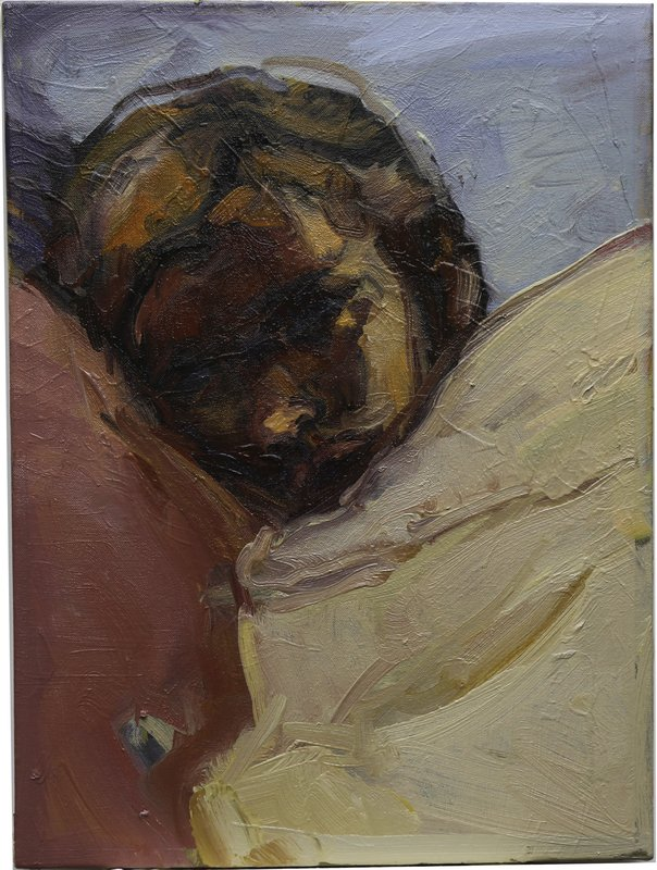 <h3>Ellie Resting</h3><span>Oil on Canvas | 2019 | 60 x 45 cm</span>