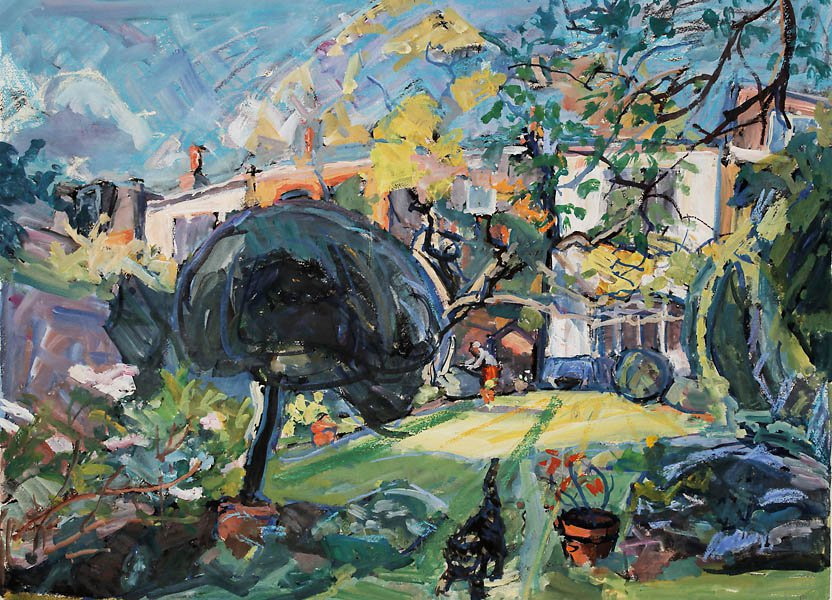 Garden with Cat<span>Copyright Francis Hoyland</span>