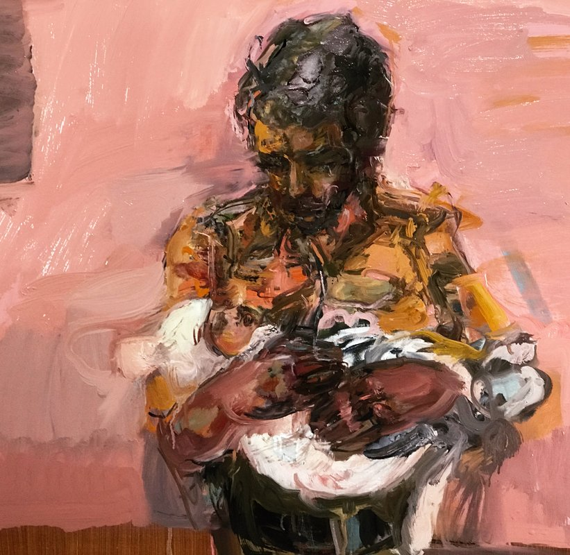 <h3>soldier and baby</h3><span>oil on canvas | 2017 |