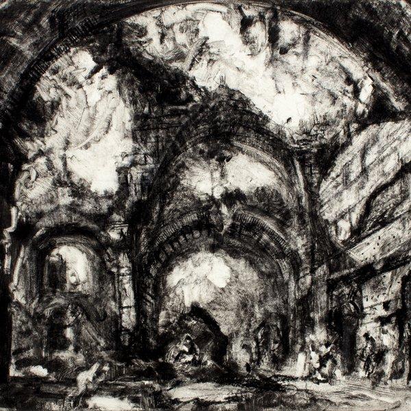 After Piranesi's 'Ruins in Hadrian's Villa at Tivoli'