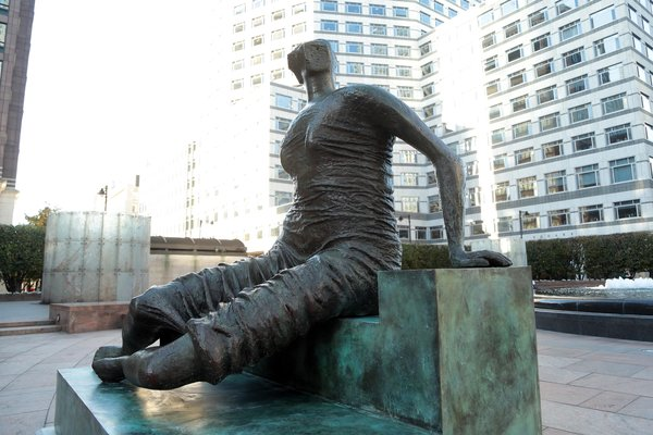 Young Artists Explore Public Sculpture: Old Flo at Canary Wharf