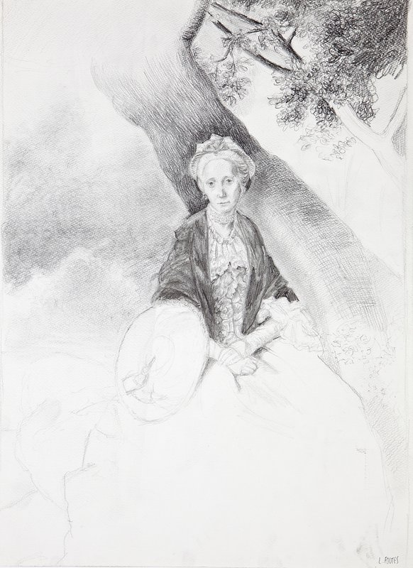 Study of Mrs Oswald, Johann Zoffany<span>Copyright Laura Footes</span>