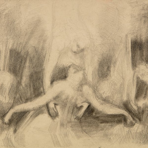 The Agony In the Garden (after William Blake)