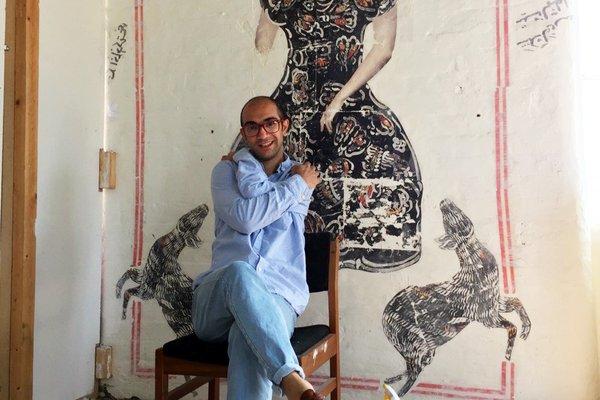 Mohammed Barrangi in the studio