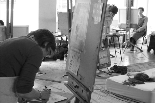 Drawing into Painting