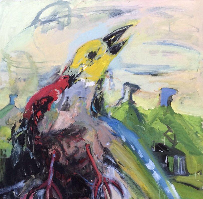 <h3>Birdlife</h3><span>Oil on canvas | 100 x 100 cm  </span>