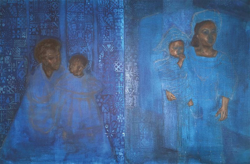 Mother and Child (Diptych)