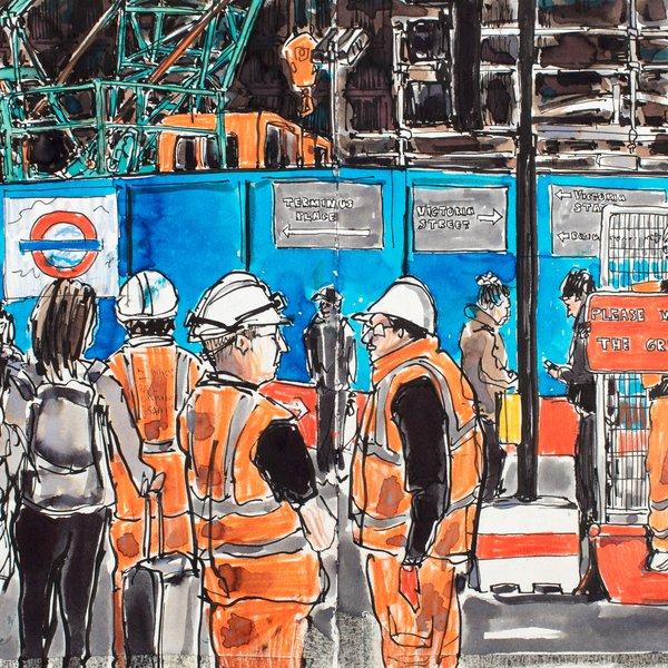 Roadworks Victoria Station