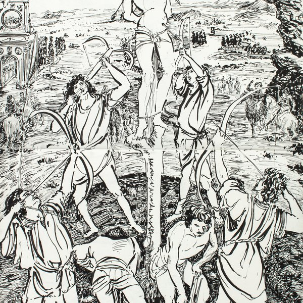 The Martyrdom of St Sebastian by Antonio and Piero del Pollaiolo