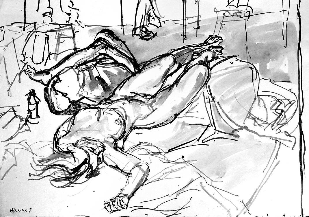 Reclining Nude II<span>Copyright Francis Hoyland</span>