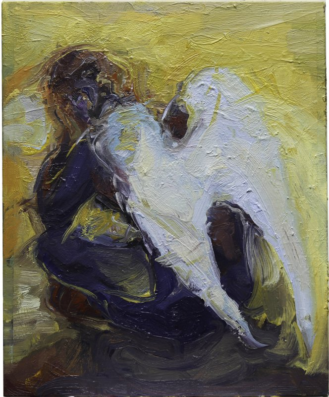 <h3>Resting Angel</h3><span>Oil on Linen | 2019 | 56 x 46 cm</span>