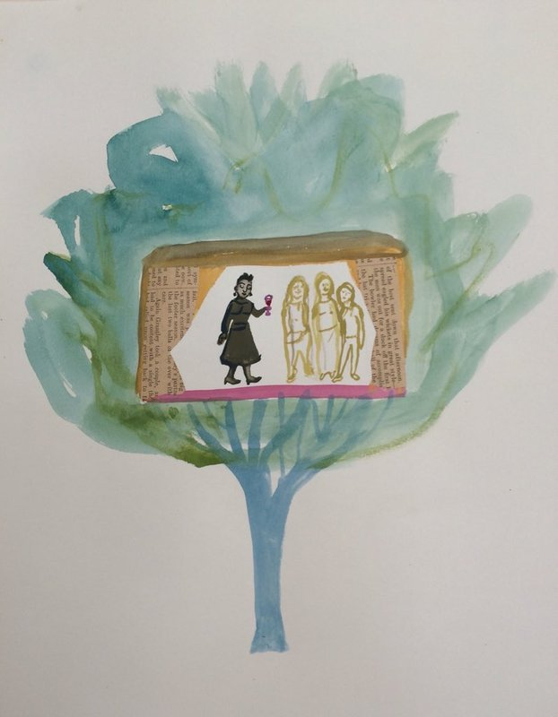 Welcoming ghosts into the forest hut with wine<span>Copyright Sophie Herxheimer</span>
