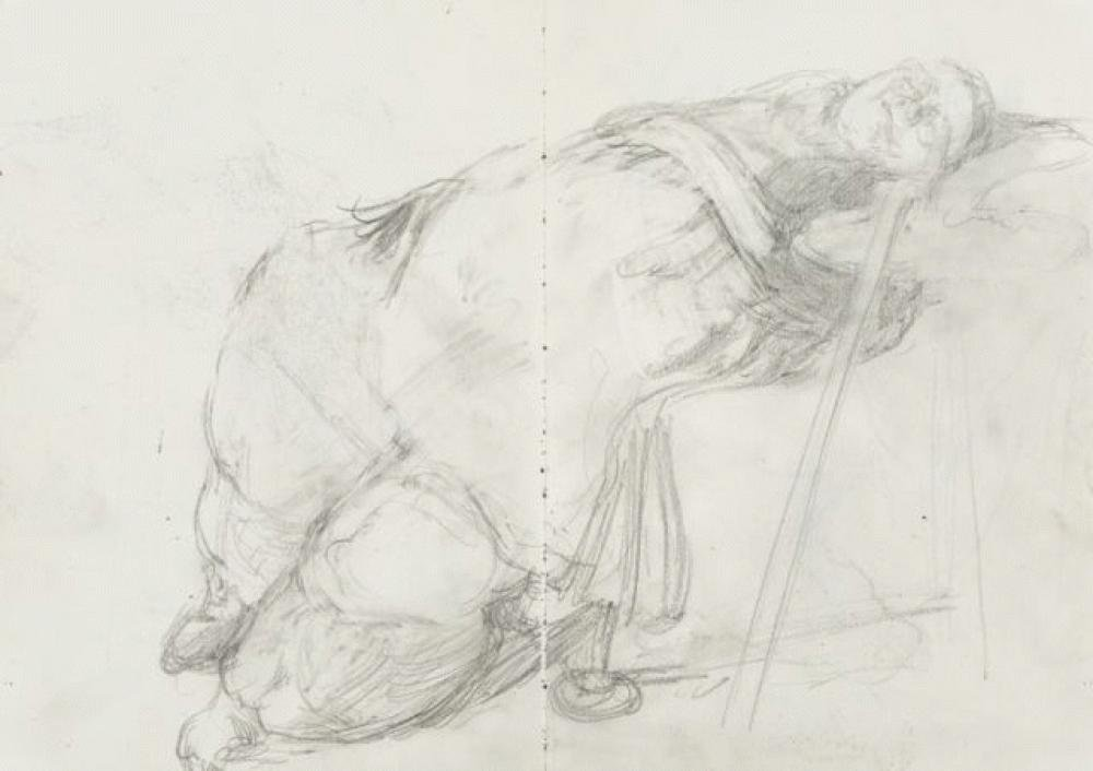 <h3>Sophie Asleep</h3><span>2006 | Pencil on paper | 297 x 420 mm</span>